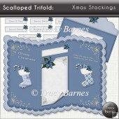 Scalloped Trifold: Xmas Stockings
