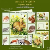 British Wildlife - 3-Sheet Mini-Kit