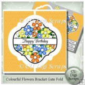 Colourful Flowers Interlocking Bracket Gatefold
