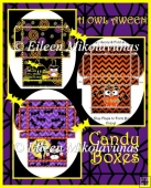 H OWL AWEEN Candy Boxes Set