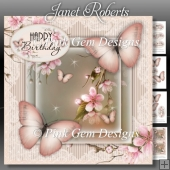 Peach Butterflies Mini Kit