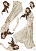 Lady Guinevere Decoupage Sheet (Cream)