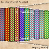 Two colour Woven 8x8 Papers Set 1