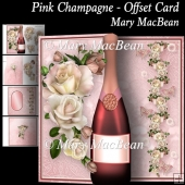 Pink Champagne - Offset Card