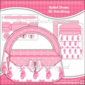 Ballet Shoes 3D Handbag