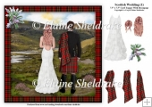Scottish Wedding (1) - 7.5 x 7.5 Card Topper & Decoupage