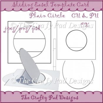slider easel card template plain circle 163 3 00 instant