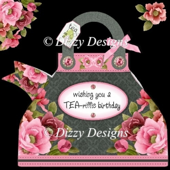 TEA-riffic Teapot Card