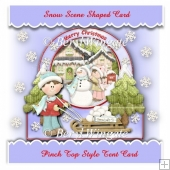 Snow Scene Shaped Card