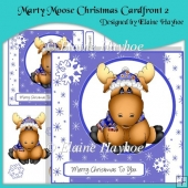 Marty Moose Christmas Cardfront 2 with Decoupage
