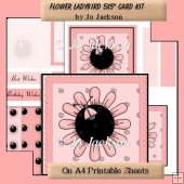Flower LadyBird 5x5 Card Topper Kit