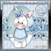 Happy Birthday Bunny Mini Kit. Mothers Day. Easter. Birthday.