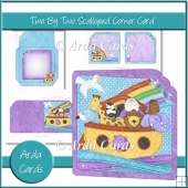 Two By Two Scalloped Corner Card