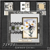 Vintage Lace Flower Grey Card Kit 1226