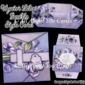 Wynter Lilies Buckle Style Card