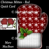 Christmas Mitten, Red - Quick Card