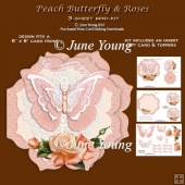 Peach Butterfly & Roses - 3-Sheet Mini-Kit