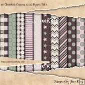 10 Chocolate Creams 12x12 Papers Set 1