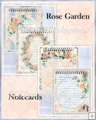Rose Garden Watercolor Journal Stationery Memo Notes in 2 Sizes