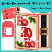 Ho Ho Ho Asymmetric Fold Card Kit