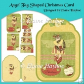 Angel Tag Shaped Christmas Card With Pyramage