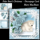 Polar Bear's Christmas - Decoupage Card