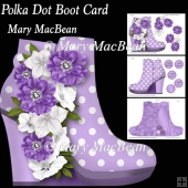 Polka Dot Boot Card