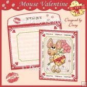 Mouse Valentine Card Kit