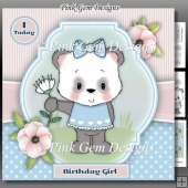 Panda Girl Mini Kit With Ages 1 to 7 Years