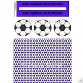 Blue Football Penny Slider Sheet