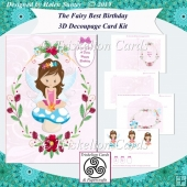 The Fairy Best Birthday Dark Haired Fairy Card Kit