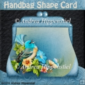 Handbag Shape Card Bird 3