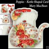 Poppies - Kettle-Shaped Card