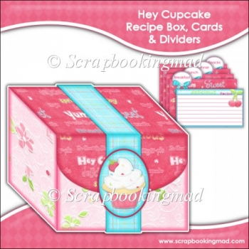 Hey Cupcake Recipe Box, Cards & Dividers