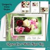 Get Well Roses Card Kit