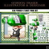 Gin Mouse 4 Sheet Mini Kit