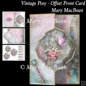 Vintage Posy - Offset Front Card