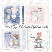 SUPER CUTE QUICKIE CHRISTMAS CARDS PACK