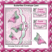 Butterflies Envelope Card