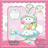 Bunny-Bonnets Shaped Card