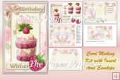 Raspberry Sundae Birthday with insert and envelope