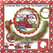 Christmas Mice Over The Top Shaped Card