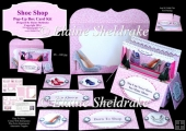 Shoe Shop Pop-Up Box Card Kit & Matching Envelope