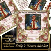 Holly & Berries Decoupage Mini Kit