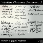 WordArt Christmas Sentiments 2