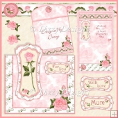Pink Rose - Over the top Card