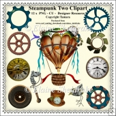 Steampunk Set Two - CU - PNG Clipart - Designer Resource Kit