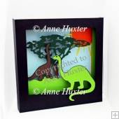 Dinosaur Picture Shadow Box Template - GSD/Studio Ready