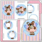 Inverted Butterfly Bears Pyramage Card PDF Download