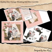 Shabby Chic Vintage Wedding 8x8 Mini Card Kit